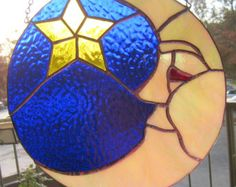 Popular items for stained glass moon on Etsy