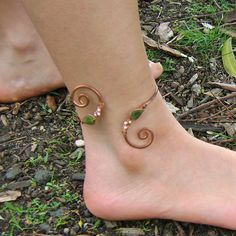 Copper and Pearl Anklet
