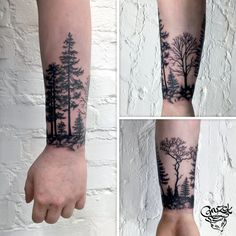 forest tattoo, 77ink