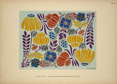 via NYPL - artist Henri Gillet - [Design based on multicolored flowers.] ([ 1880-1920])