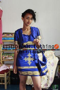 Blue Saba Habesha Fashion Dress | Ethiopian clothing | Eritrean clothes | Habesha dressesEthiopian clothing | Eritrean clothes | Habesha dresses