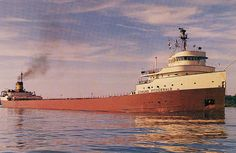 Great Lakes Freighter Edmond Fitzgerald lost in Lake Superior 11-10-1975