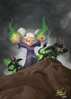 Gnome Warlock by RedSlicer.deviantart.com on @DeviantArt
