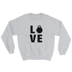 A sturdy and warm sweatshirt bound to keep you warm in the colder months. Funny Workout, Workout Humor, Grey Sweatshirt, T Shirt, Rib Knit, Tank Tops, Sweatshirts, Sweaters, Cotton