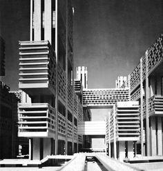 Tsujiki District, Tokyo - Kenzo Tange, 1963