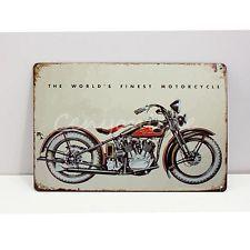 Retro Motorcycle Metal Tin Sign Vintage Wall Plaque Art Club Bar Pub Home Decor
