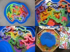 Multi layer jigsaw puzzles
