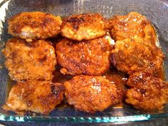 Crunchy Honey Garlic Pork Chops!