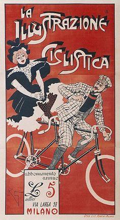 La Illustrazione Ciclistica  #original #vintage #poster