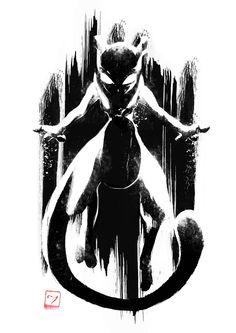 Shadow Pokémon / Pokemon - Mewtwo by AJ Hateley