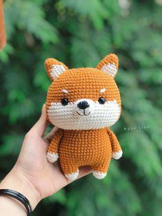 Pattern by Ngoc Linh Crochet Amigurumi Free Patterns, Crochet Animal Patterns, Stuffed Animal Patterns, Crochet Animals, Kawaii Crochet, Crochet Bunny, Cute Crochet, Crochet Dolls, Crochet Doll Tutorial