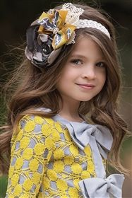 Persnickety Clothing - October Sky Lyla Headband in Yellow