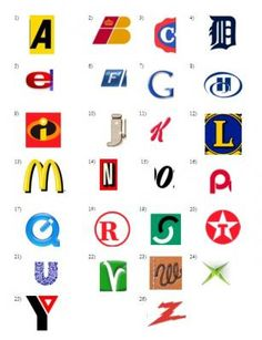 Brands Or Logos Using The Letters Of The Alphabet Logo Alphabets Article Art Abcs Alphabet Art Alphabet Alphabet Art Alphabet In Different Fonts