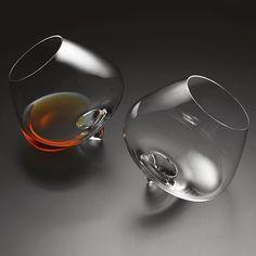 Wobble Cognac Glasses  Rikke Hagen, 2004