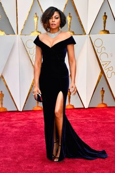 Taraji P. Henson Brings the Old Hollywood Glamour You've Been Missing to the Oscars