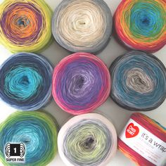 It's a Wrap Rainbow の商品詳細ページです。輸入毛糸と編み物グッズ*チカディー*はRed HeartやSugar'n Cream など、アメリカやカナダのカラフルな輸入毛糸や、海外の楽しい編み物グッスを扱う通販ショップです。