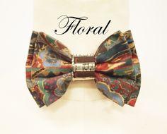 Jay Nicole's Bows Pre-tied  Floral x piano Cotton Adjustable Neckband  #jaynicolesbows #designerjaynicole #bowties
