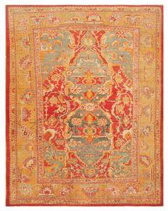 Antique Oushak Turkish Rug 44475 Main Image - By Nazmiyal