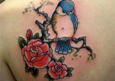 bird and roses tattoo 300x210