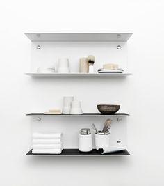 handcrafted in virginia - Vipp Shelf - Vipp Design Lab Bad Inspiration, Bathroom Inspiration, Interior Inspiration, Design Lab, Wood Shelves, Floating Shelves, Regal Bad, Lavabo Design, Home Furniture