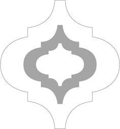 Estencil sobre parede - gráfico