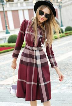Morpheus Boutique  - Red Plaid Lapel Long In The Fold Long Sleeve Dress, CA$185.08 (http://www.morpheusboutique.com/new-arrivals/red-plaid-lapel-long-in-the-fold-long-sleeve-dress/)