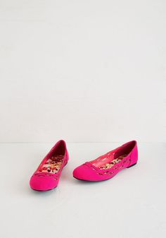 On Easy Sweet Flat in Fuchsia. Youll be en route to adorable style the moment you slip into these bright flats! #pink #modcloth
