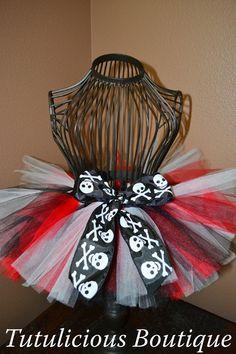 Red Black & White Pirate Tutu for Tay