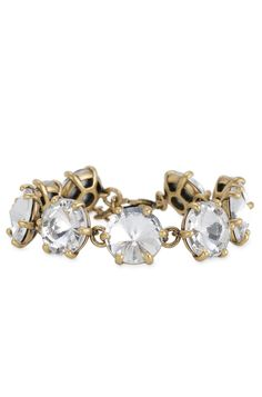 Silver, Peach, or Gold Glass Stone Bracelet | Amelie Sparkle Bracelet | Stella & Dot