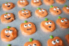 Chocolate Covered Halloween Pumpkin Pretzels - simple as that