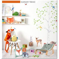 Nursery Trend - Animal Kingdom by lidia-solymosi on Polyvore featuring interior, interiors, interior design, casa, home decor, interior decorating and Sew Heart Felt