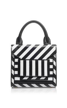 White And Black Calf Stripe Bag by Pierre Hardy for Preorder on Moda Operandi