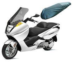 A-pro Sitzbezug Wasserdicht Textil Motorrad Schwarz Regenschutz UV Schutz Schwarz M