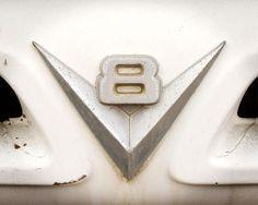 Classic Car Art  10x8  8x10  V8 logo  Fine Art by SquidPhotos, $19.00
