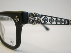 e479aca44540 Chrome Hearts INSTABONE Matte Black Glasses Eyewear Eyeglass Frame Sterling  Slvr