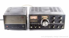 VINTAGE SWAN 350 HAM RADIO TRANSCEIVER + 117C POWER SUPPLY + SHURE MICROPHONE #SWAN