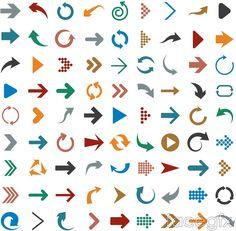 81 color arrow vector