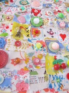 """Charm Sampler......  great way to use those tiny treasures you've been """"collecting"""""""