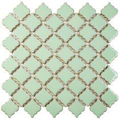 "Found it at Wayfair - Pharsalia 2"" x 2.25"" Porcelain Mosaic Tile in Light Green"