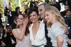 Pin for Later: The Most Stunning Snaps From Cannes  The cast of Clouds of Sils Maria got together for a smiley photo.