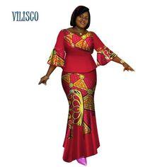 Bazin Riche African Tops and Skirt Sets for Women African Print Dashiki Traditional 2 Piece Skirt Sets Splice Clothing African Attire, African Wear, African Fashion Dresses, African Dress, Ankara Fashion, African Tops, African Women, Agbada Styles, 2 Piece Skirt Set