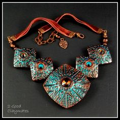 2 Good Claymates: Polymer Art Jewelry Challenge - Day 1