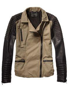 Military-Meets-Biker Cotton Jacket - Scotch & Soda