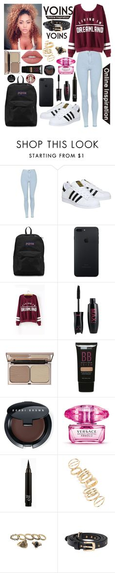 """""""Casual but Fashionable                     ~Yoins"""" by inspiredfashionn ❤ liked on Polyvore featuring Topshop, adidas, JanSport, Charlotte Tilbury, Beauty Treats, Bobbi Brown Cosmetics, Versace, BP., Lime Crime and yoins"""