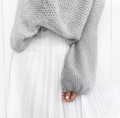 when you want to be girly in a big tutu but still comfy in a big sweater.