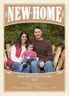New Home Announcement | Graphic Design & Advertising | Pinterest ...