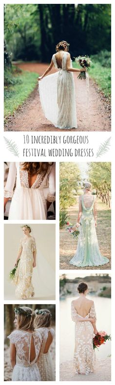 10 best festival bride wedding dresses // see more at www.victoriamillesime.co.uk/blog