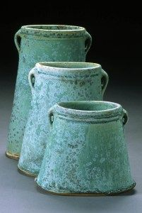 turquoise stoneware vases by George Lowe Ceramic Clay, Ceramic Pottery, Pottery Art, Keramik Vase, Shades Of Turquoise, Green Turquoise, Contemporary Ceramics, Handmade Pottery, Earthenware