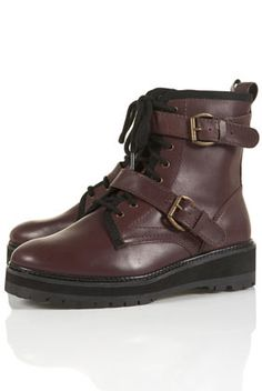 AVENGER Heavy Lace-up Boots, Topshop