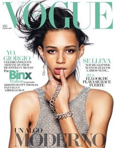 Top model Binx Walton lands on the cover of Vogue Spain's May 2015 issue lensed by fashion photographer Nico Bustos with styling from Belen Antolin. For her first solo Vogue cover Binx is wearing Armani.